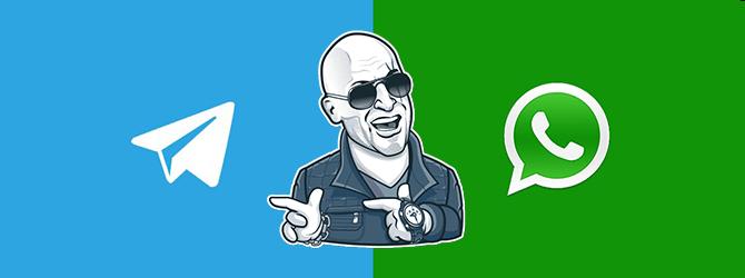 Битва мессенджеров Телеграмм против Ватсап