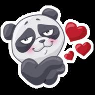 Набор стикеров «PandaS»