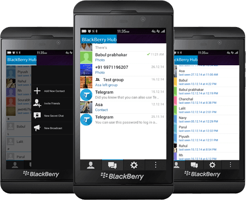 Скачать Telegram для BlackBerry