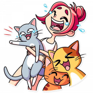 Набор стикеров «Mia Catlady»