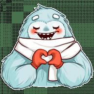 Набор стикеров «Cute Yeti»