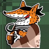 Набор стикеров «Pirate fox»