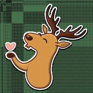 Набор стикеров «Elk George»