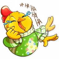 Набор стикеров «Chicken Chuu»