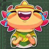 Набор стикеров «Mexican Axolotl»