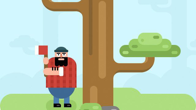 Игра в Telegram «Lumberjack (Лесоруб)»
