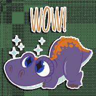 Набор стикеров «DinoMess»