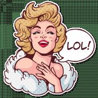 Набор стикеров «Marilyn»