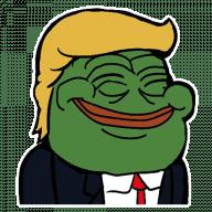 Набор стикеров «PePe Trump @kyprijan»