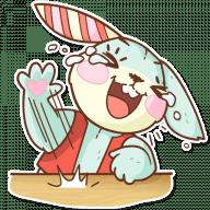 Набор стикеров «Plush Baby Bunny»