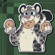 Набор стикеров «Snow Leopard»