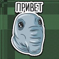 Набор стикеров «Ждун»