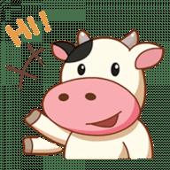 Набор стикеров «Momo Cow»