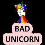 Набор стикеров «BAD UNICORN»